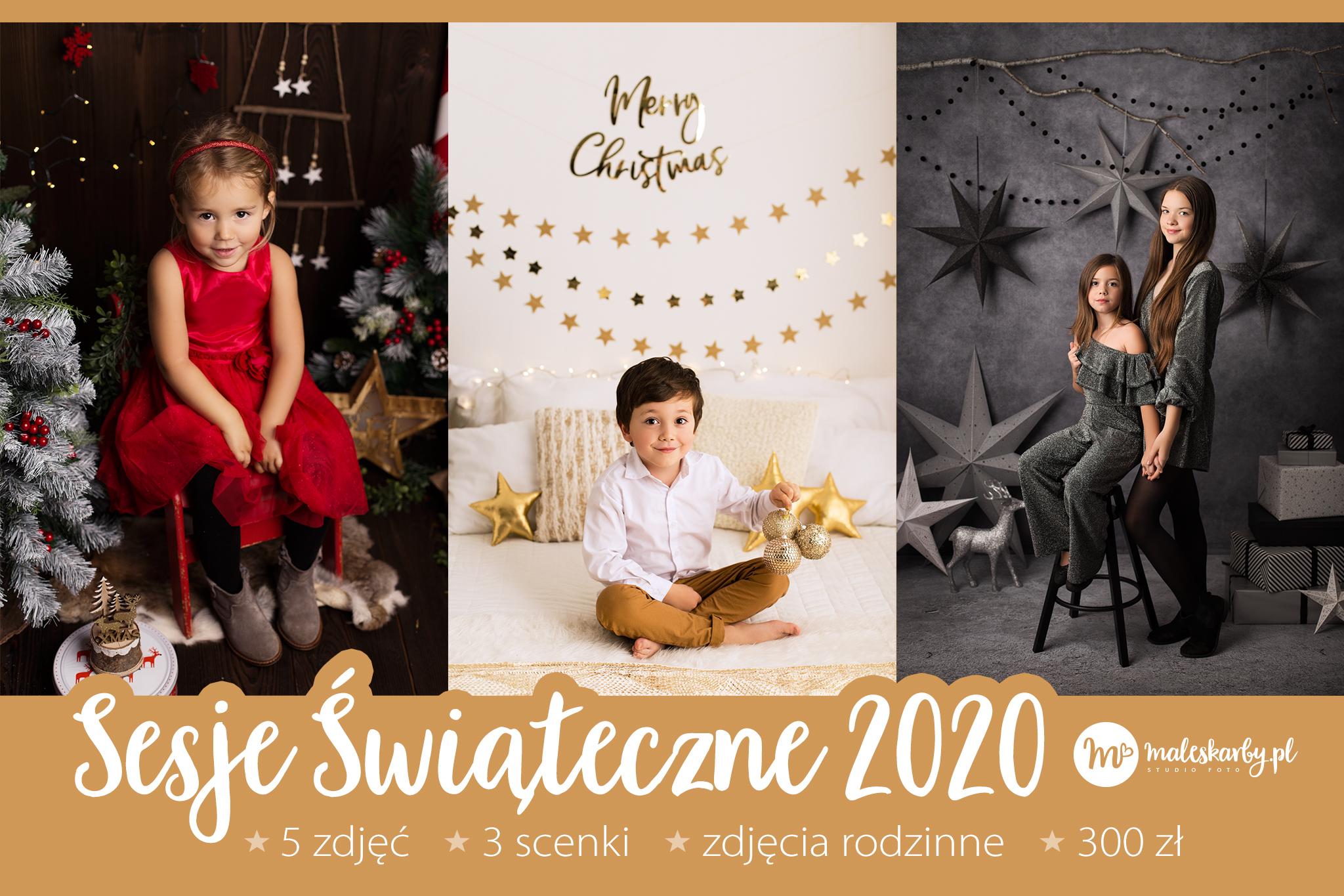 Rodzinne i dziecięce sesje świąteczne 2020